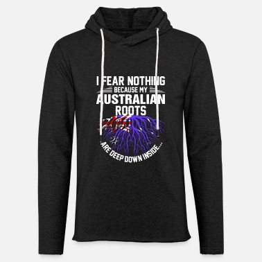Slang Australian Roots Are Deep Down Inside - Unisex Lightweight Terry Hoodie
