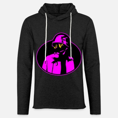 Nuclear Pandemic Gas Mask - Soldier Apocalypse T-Shirt. - Unisex Lightweight Terry Hoodie