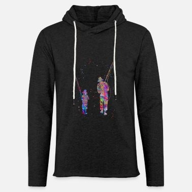Son Father and son fishing - Unisex Lightweight Terry Hoodie