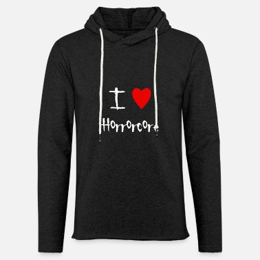 Horrorcore I love Horrorcore - Unisex Lightweight Terry Hoodie