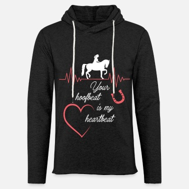 Show Jumping Your hoofbeat is my heartbeat - Unisex Lightweight Terry Hoodie