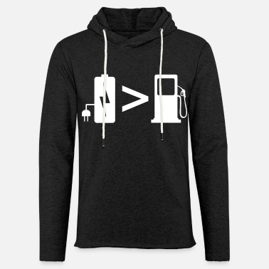 Vehicle Electric Vehicle EV Car Battery Funny Gift - Unisex Lightweight Terry Hoodie