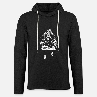 Clock Cuckoo Clock - Unisex Lightweight Terry Hoodie
