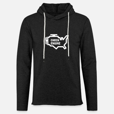 Seller New Design Check Engine Best Seller - Unisex Lightweight Terry Hoodie