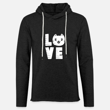 Cat Love Cat Love - Unisex Lightweight Terry Hoodie