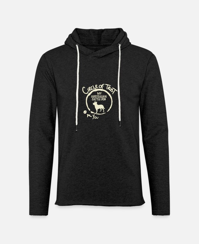 Nature Hoodies & Sweatshirts - Circle Of Trust My Australian Cattle Dog - Unisex Lightweight Terry Hoodie charcoal gray
