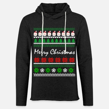Christmas Ugly Christmas - Unisex Lightweight Terry Hoodie