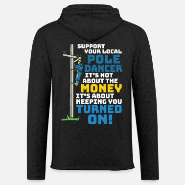 Wireman Funny Lineman Saying - Electrician Electric Cable - Unisex Lightweight Terry Hoodie