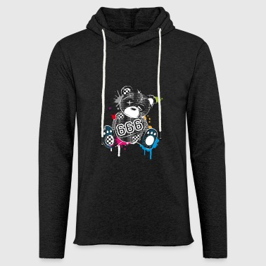 demolished teddy bear with 666 on the belly - Unisex Lightweight Terry Hoodie