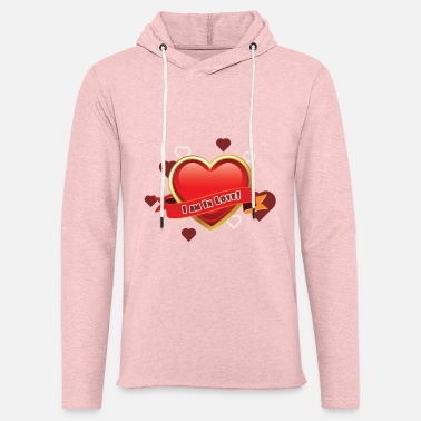 Valentines Day Love Heart Design - Unisex Lightweight Terry Hoodie