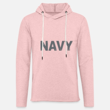Distressed Navy Tee for light colored tees - Unisex Lightweight Terry Hoodie