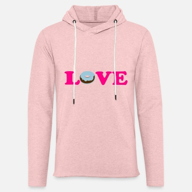 Vector Most Loved Fast Food Design Cakes Breads ♥ټLove Doughnut-My Guilty Pleasure Donutsټ♥ - Unisex Lightweight Terry Hoodie