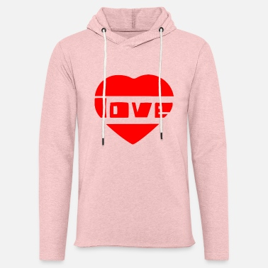 Love With Heart love with heart - Unisex Lightweight Terry Hoodie