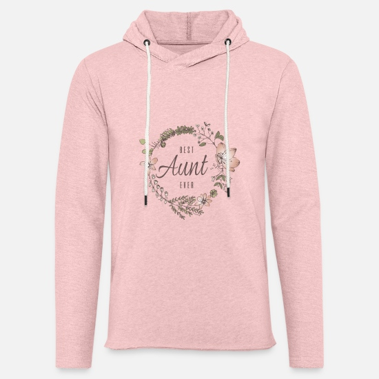 Mother Hoodies & Sweatshirts - Best Aunt Ever - Unisex Lightweight Terry Hoodie cream heather pink