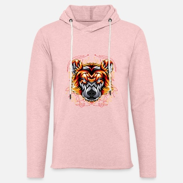 Head bear angry face head - Unisex Lightweight Terry Hoodie