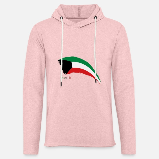 Flag Hoodies & Sweatshirts - kuwait F - Unisex Lightweight Terry Hoodie cream heather pink