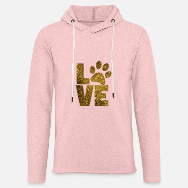 Dog Cat Paw Love USA Flag Stars and Stripes Unisex Hooded Sweatshirt