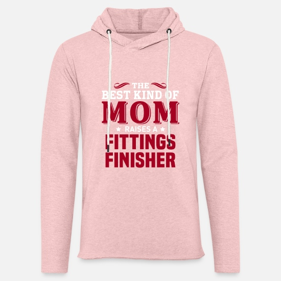 Mummy Hoodies & Sweatshirts - Fittings Finisher - Unisex Lightweight Terry Hoodie cream heather pink