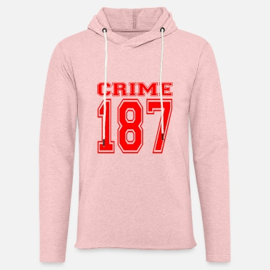 Strass Crime 187 crime strasse criminal rot - Unisex Lightweight Terry Hoodie