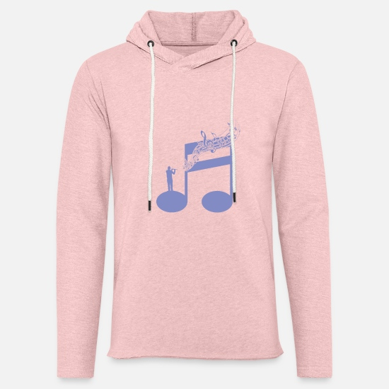Flute Hoodies & Sweatshirts - Piccolo Flute Wind Instrument Orchestra - Unisex Lightweight Terry Hoodie cream heather pink
