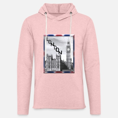 Union Jack London Big Ben Union Jack - Unisex Lightweight Terry Hoodie