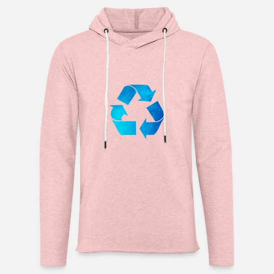 Recycle Hoodies & Sweatshirts - Recycling - Unisex Lightweight Terry Hoodie cream heather pink