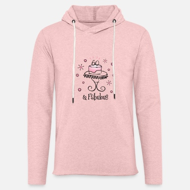 Cake Fabulous 60 - Unisex Lightweight Terry Hoodie