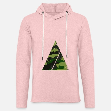 Trend Triangle camouflage pattern with horizontal stripe - Unisex Lightweight Terry Hoodie