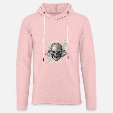 Aggressive aggressive skull - Unisex Lightweight Terry Hoodie