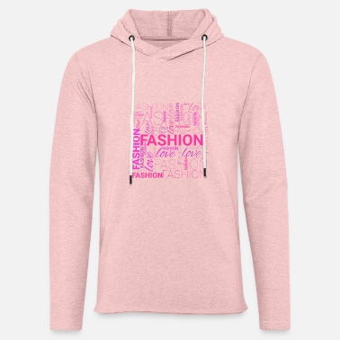Fashion Art Fashion Word Art - Unisex Lightweight Terry Hoodie