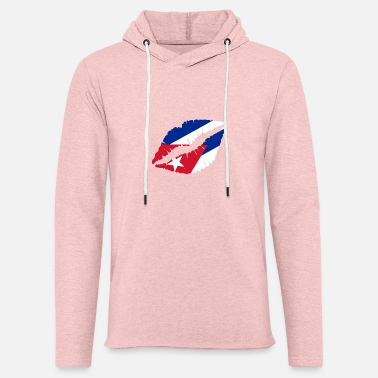 Cuba Cuba Kiss Flag Club Soccer Gift Idea Birthday - Unisex Lightweight Terry Hoodie