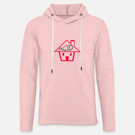 Acid House Hoodies & Sweatshirts - Acid House Funny - Unisex Lightweight Terry Hoodie cream heather pink