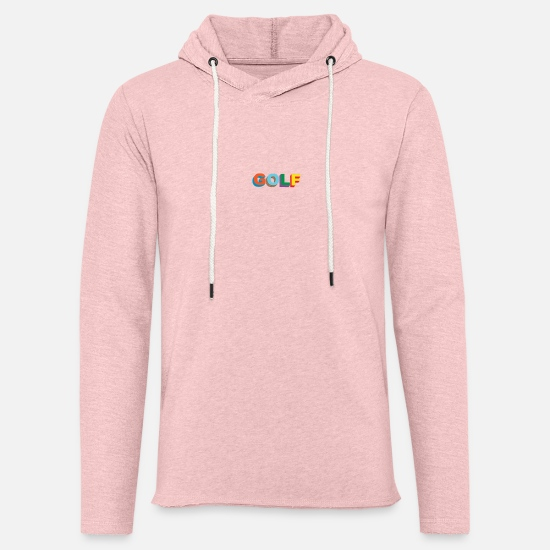 Golf Hoodies & Sweatshirts - Multi color 3D Golf Wang - Unisex Lightweight Terry Hoodie cream heather pink