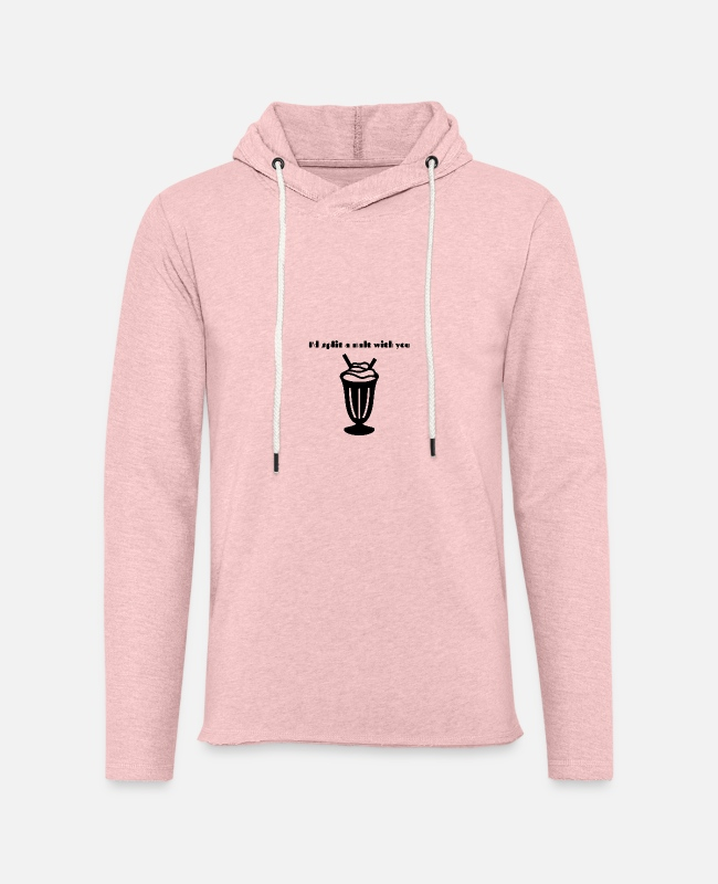 Young Hoodies & Sweatshirts - I'd split a malt with you - Unisex Lightweight Terry Hoodie cream heather pink