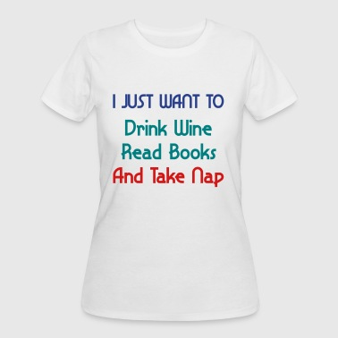 Drink Wine, Read Books - Women's 50/50 T-Shirt