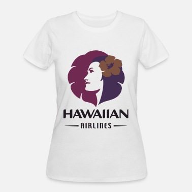 Airline Hawaiian Airlines Vintage Logo Hawaii T Shirts - Women's 50/50 T-Shirt