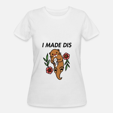 Otter Mama Otter - I made This - Women's 50/50 T-Shirt