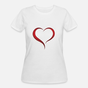 Expression Of Love expressing love with a heart - Women's 50/50 T-Shirt