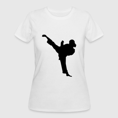 Karate Silhouette Karate fighter silhouette 5 - Women's 50/50 T-Shirt