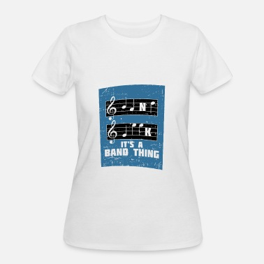 Blue French Horn MUSIC: It's A Band Thing - Women's 50/50 T-Shirt