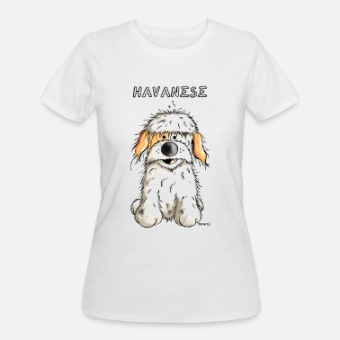 Havanese Dogs Cute Havanese - Havaneser - Dog - Gift - Puppy - Women's 50/50 T-Shirt