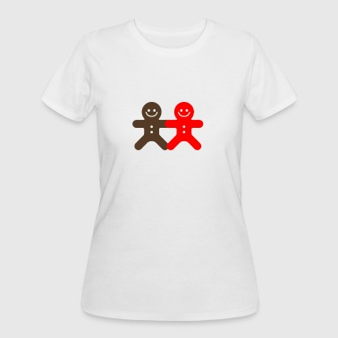 Small Ginger Bread Man funny tshirt - Women's 50/50 T-Shirt