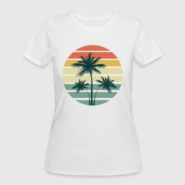 Summer Palm Sunset - Women's 50/50 T-Shirt