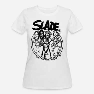 Fuck Hard Rock SLADE BAND GLAM HARD ROCK 70s RETRO CARTOON VINTAG - Women's 50/50 T-Shirt