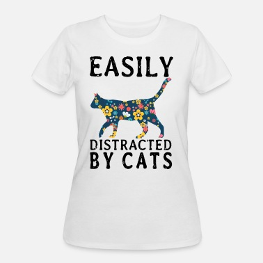 Easily Distracted easily distracted by cat t shirts - Women's 50/50 T-Shirt