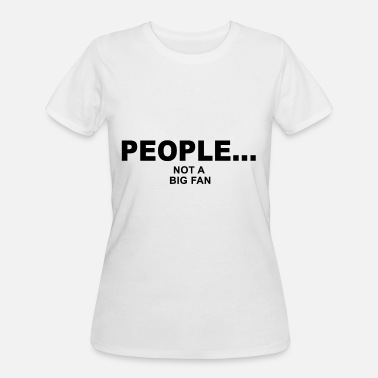 people not a big fan music guitar - Women's 50/50 T-Shirt