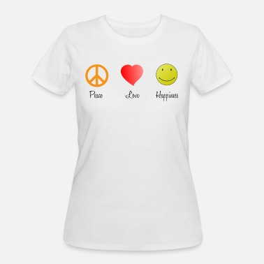 Love Peace Happy Peace Love Happy - Women's 50/50 T-Shirt