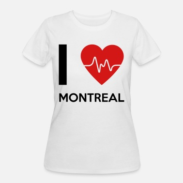 I Love Montreal I Love Montreal - Women's 50/50 T-Shirt