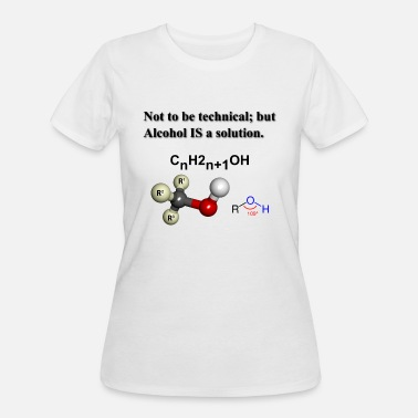 Solution Alcohol is a solution - Women's 50/50 T-Shirt
