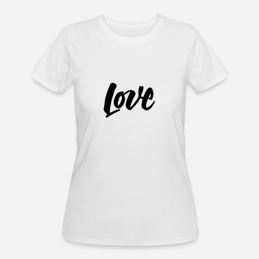 Typography Husband Love Typography - Women's 50/50 T-Shirt